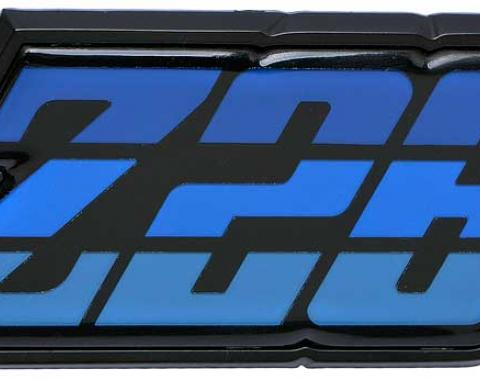 """OER 1980-81 Camaro """"Z28"""" Blue Fuel Door Emblem 9637805"""