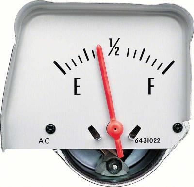 OER 1968-76 Silver Console Fuel Gauge 6431423