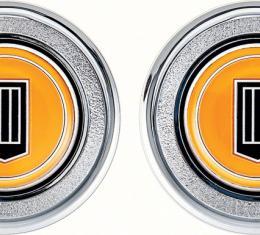 OER 1979-81 Camaro Orange Badge Interior Door Panel Emblems K74309