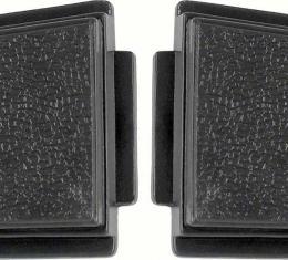 OER 1969-70 Standard Steering Wheel Horn Buttons Black (pair) K213