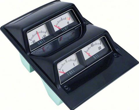OER 1968-69 Camaro, 1968-74 Nova Silver Face Console Gauge Assembly With Amp Gauge 3952635
