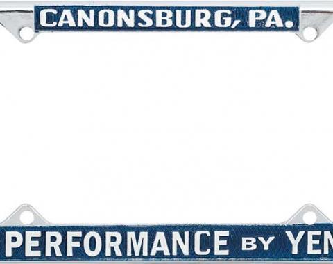 OER Yenko Hi-Performance License Plate Frame Y5002