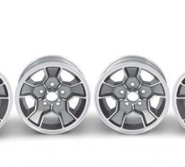 """OER Z28 N90 Style 15"""" X 7"""" Aluminum Wheel 5 x 4-3/4"""" Bolt Pattern 4-1/4"""" Backspace - Set of 4 *R4422"""