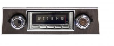 Custom Autosound 1967-1968 Chevrolet Camaro USA-740 Walnut Bezel Radio