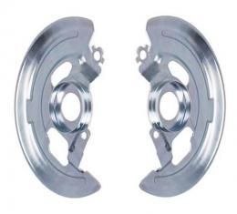 Front Disc Brake Backing Plates, Single Piston, Pair, 1964-1974