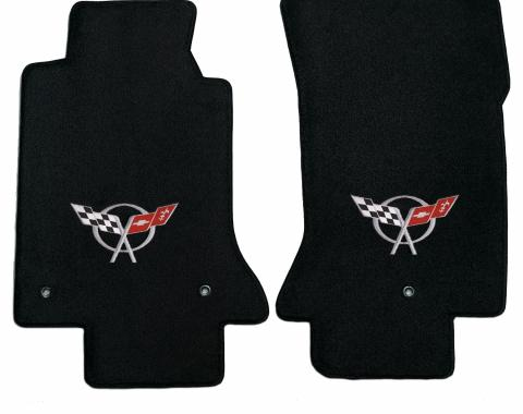 Corvette Floor Mats, 2 Piece Lloyd® Velourtex™, with C5 Logo, 1997-2004